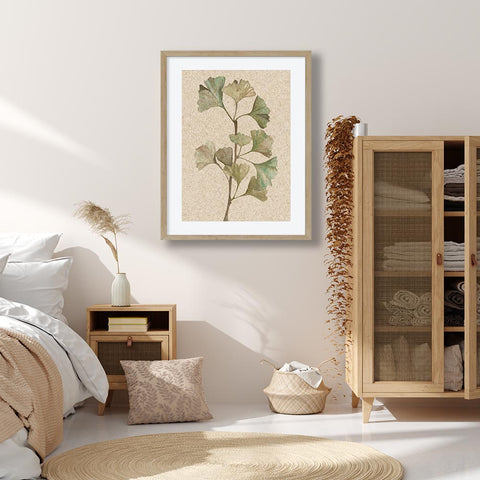 Bedroom Botanical Art Neutral Tones Vintage Art Frames by Abstract House