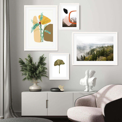 top botanical art prints to buy blended nature set gallery wall