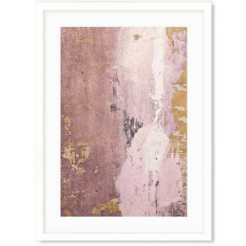 blush gold abstract art for a pink study