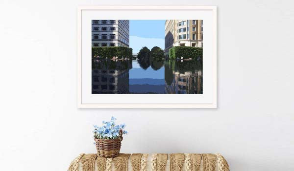 photography of canary wharf london prints