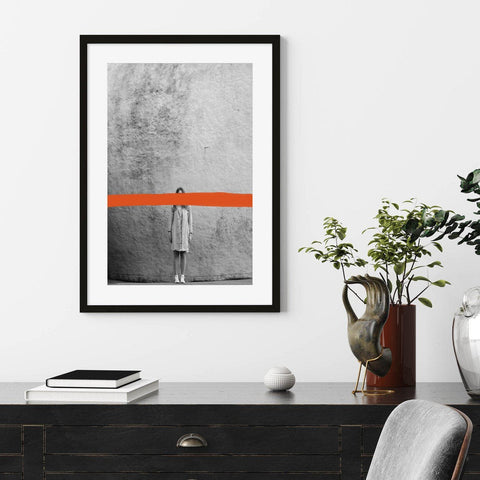 urban black and white photographic art print graffiti wall decor for your bedroom