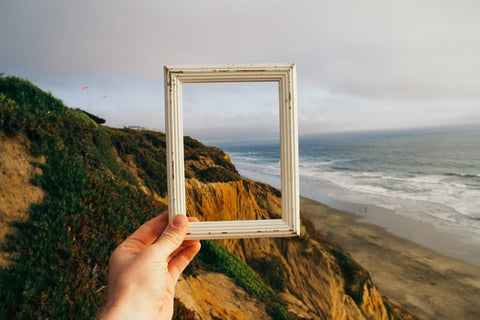 rustic wooden picture frame landscape photo choosing a picture frame