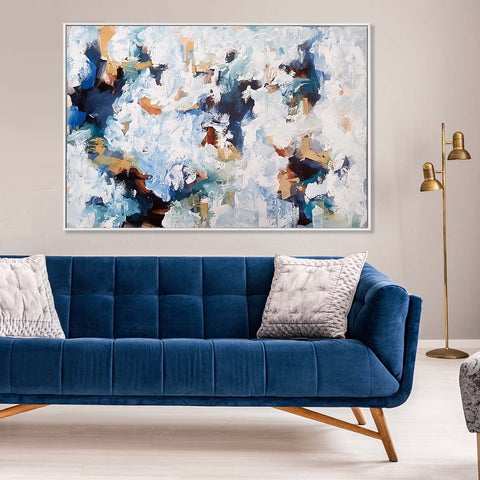 large original abstract painting by omar obaid, modern textured canvas art