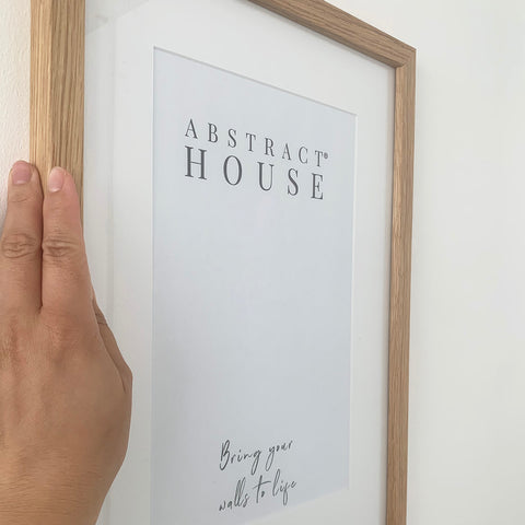 how to put artwork in a frame