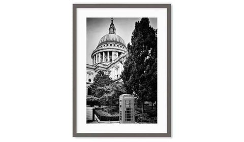black and white photography of st pauls cathedral london