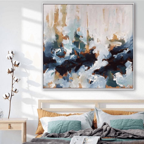 Large Original Abstract Painting Bedroom Art Ideas by Omar Obaid
