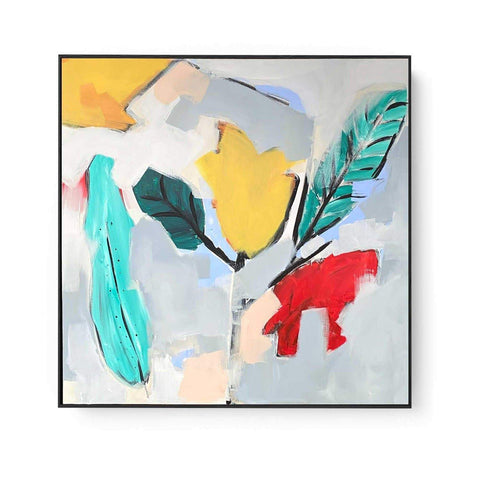 large colourful original abstract painting