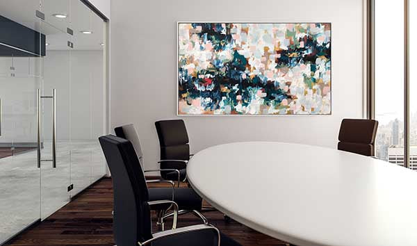 modern office decor large original art painting for the office