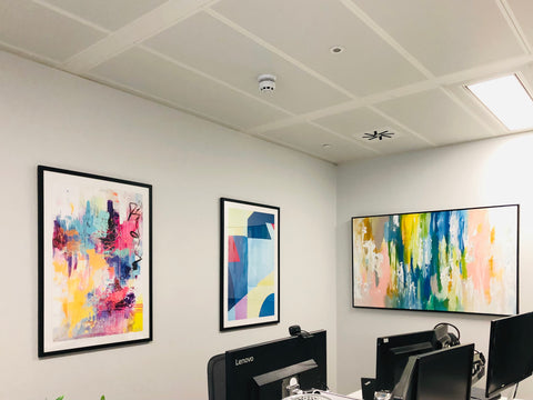 choose office art for wellbeing and productivity ideas inspiration