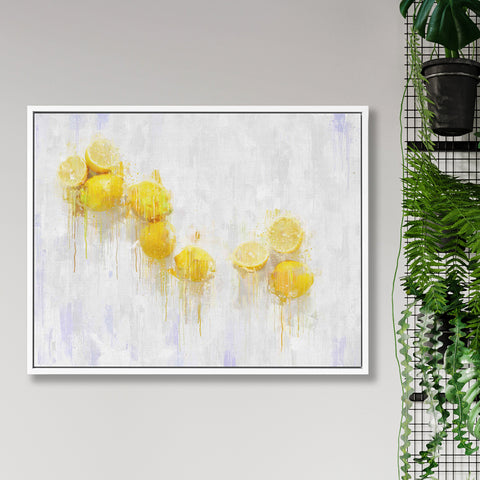 lemon still life oil painting canvas art print