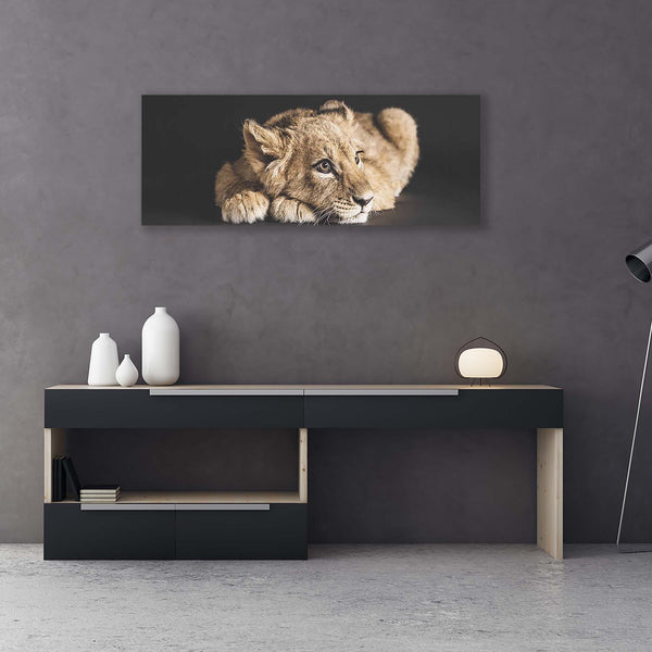 Lion cub fine art print with frame