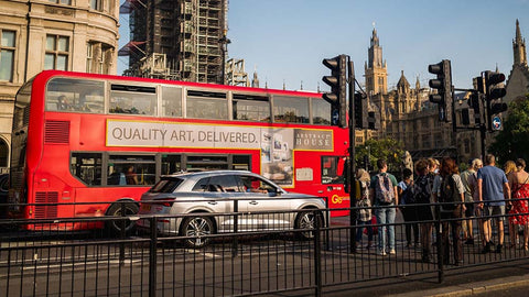 london bus ads outdoor campaign abstract house global media