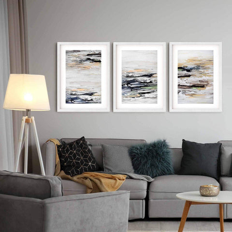 abstract art for living room dawn landscape wall decor