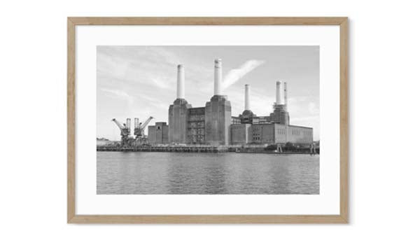 battersea power station black and white photography art prints