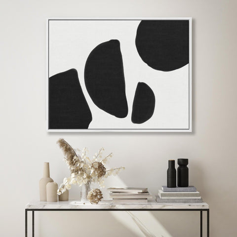 abstract black and white canvas print framed original painting canvas art