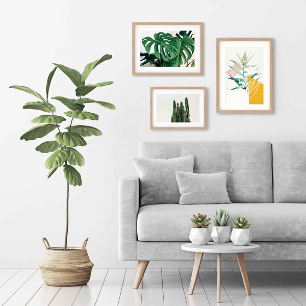 Botanical art prints with frames