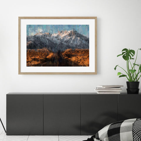 mountain road landscape art impressionist movement dining room wall art