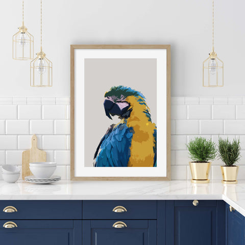 parrot animal art for kitchen wall decor