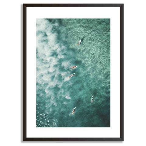 Riding The Waves Art Print With Frame