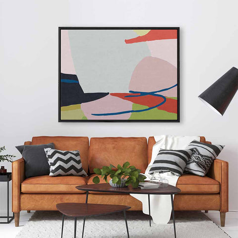 maximalism jungle art on canvas by abstract house