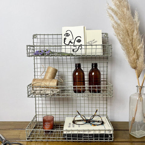 bathroom shelfie wire rack furniture industrial interiors