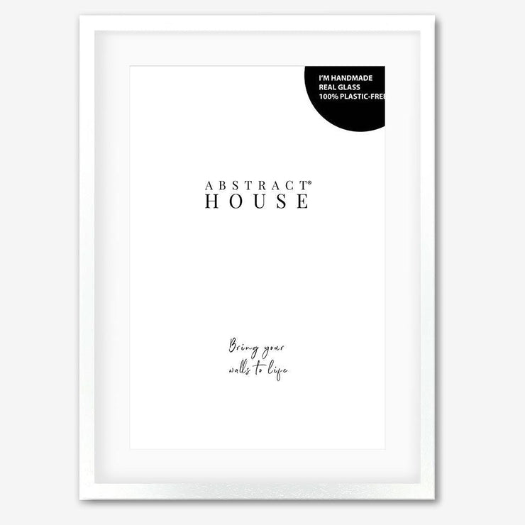 White Wooden Picture Frame-Abstract House