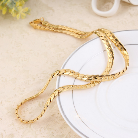 Gold Filled Snake Brass Chain