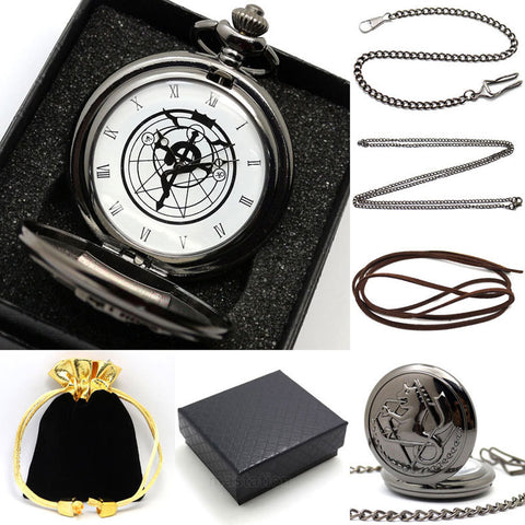 Fullmetal Alchemist Edward Elric's Gift Boxed Pocket Watch