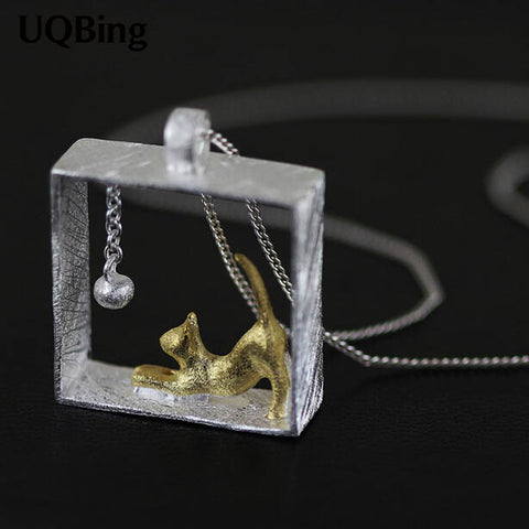 Rectangle Cat Necklaces