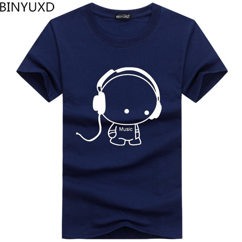 Quality T-Shirts Fashion Headset Cartoon