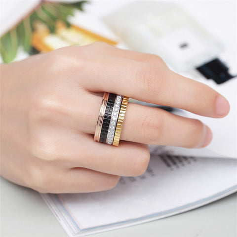 Stainless Steel Zirconia Ring