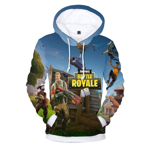 Fortnite Game Long Sleeve Hoodie (Multiple Designs Available)
