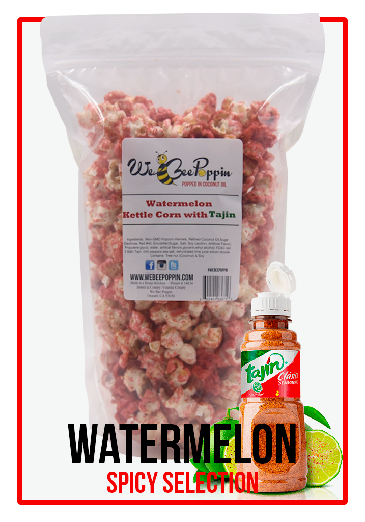 Watermelon Kettle Corn with Tajin