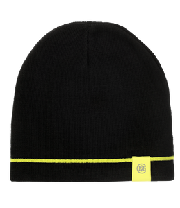 Knit Black and Green Beanie