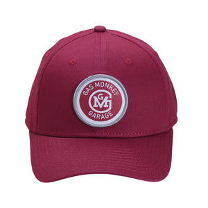 Circle Patch Maroon Fitted Hat