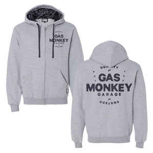 Monkey Head Grey Zip Hoodie
