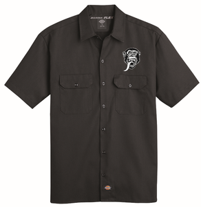 Dickies Black Short Sleeve Flex Work Shirt