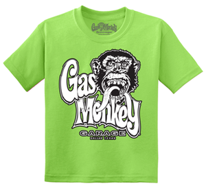 Gas Monkey Garage Kids Green Logo Tee