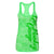 Ladies Green Burnout Tank Top