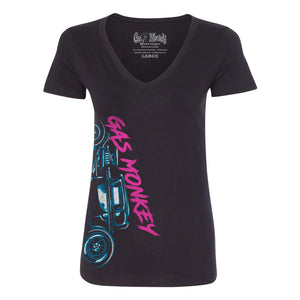 Gas Monkey Garage Ladies Hot Rod V-Neck
