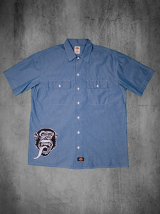 Dickies Blue Short Sleeve Chambray Work Shirt