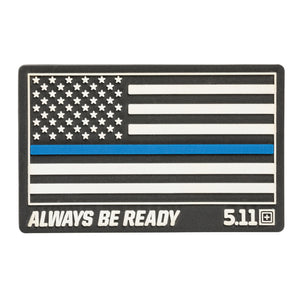 THIN BLUE LINE RUBR PATCH