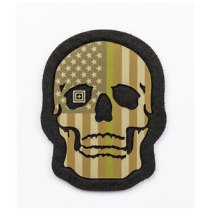 PAINTED TGL SKULL PATCH