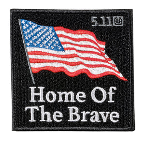 HOME OF BRAVE FLAG PATCH
