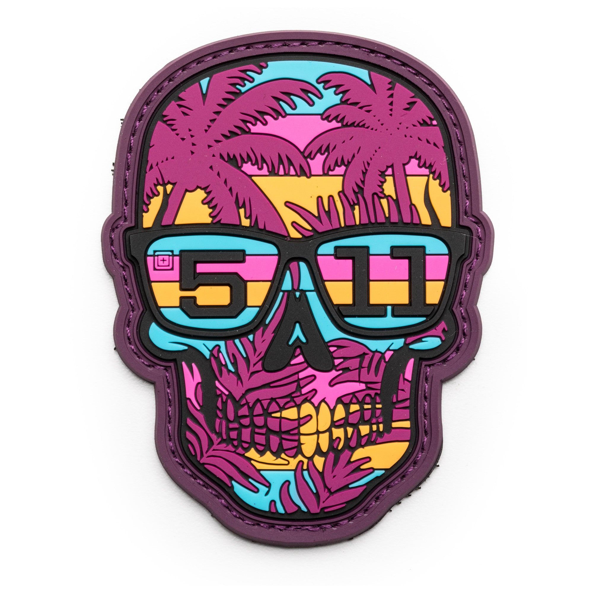 80S SUNSET SKULL PATCH