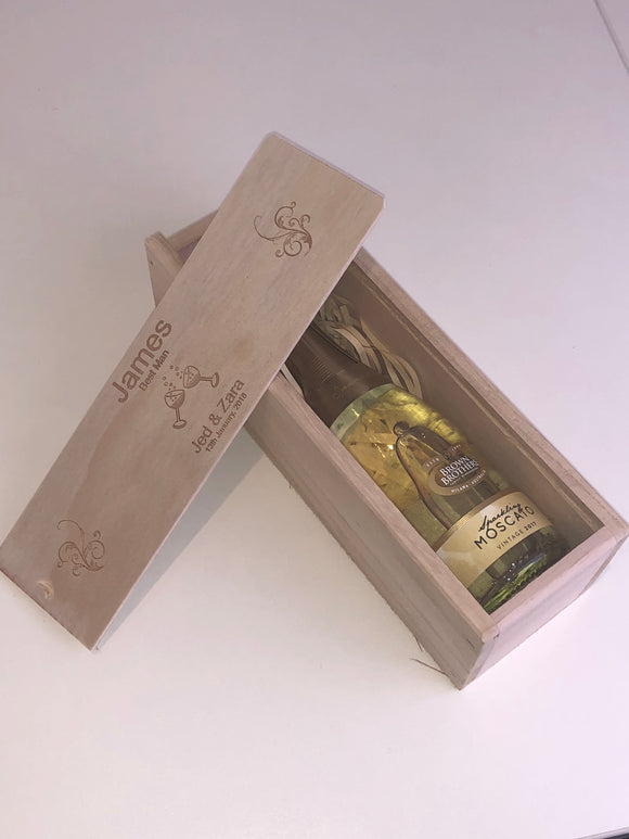 Personalised Winebox (suits mini bottles)