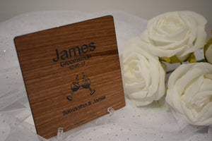 Personalised Wooden coasters