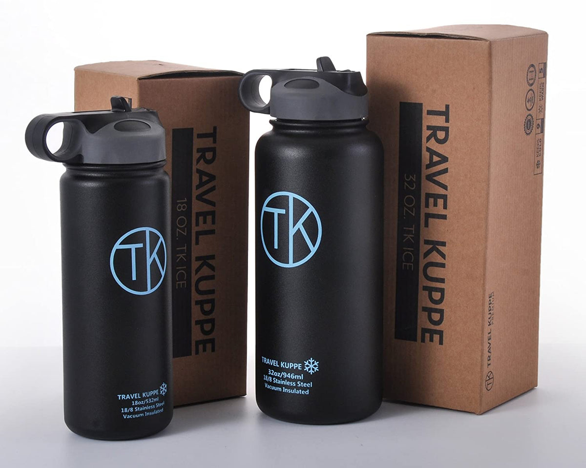 TK Travel Kuppe Fire 18oz Water Bottle and Flask BPA Free