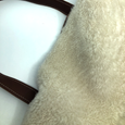 Harriet in Brown + White Shearling