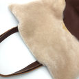 Harriet in Brown + Cream Shearling